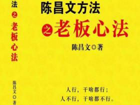 陈昌文方法之老板心法pdf电子书