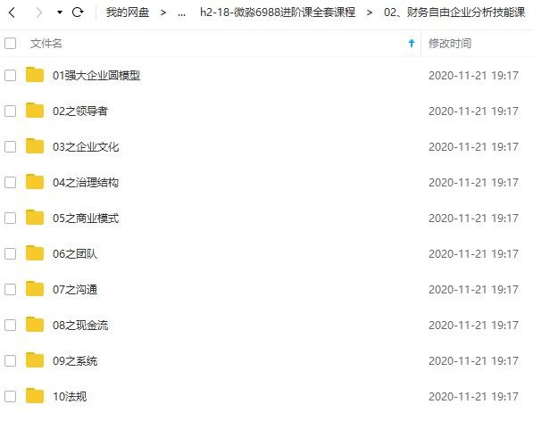 微淼商学院6998元理财财商进阶课全套