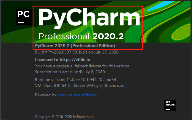 pycharm2020.2专业版永久激活(亲测有效)安装说明